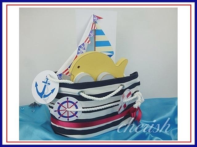 船 おむつケーキ