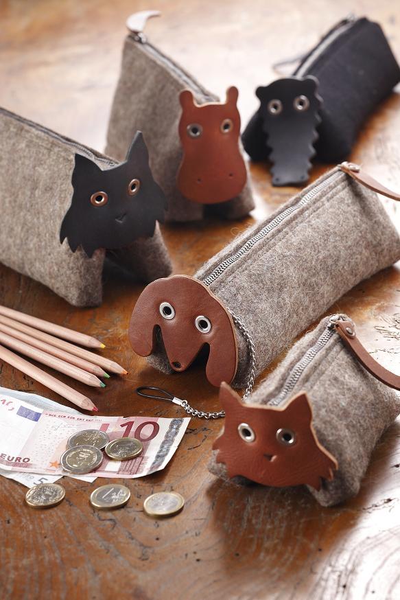 猫 カバの小物入れ 小銭入れ